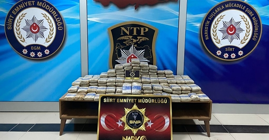 Siirt'te Narkotik Operasyonu! 100 Kilogram Eroin Ele Geçirildi