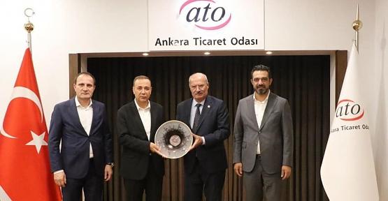 Ören, Olgaç ve Özcan, ATO Başkanı Baran'ı Ziyaret Etti