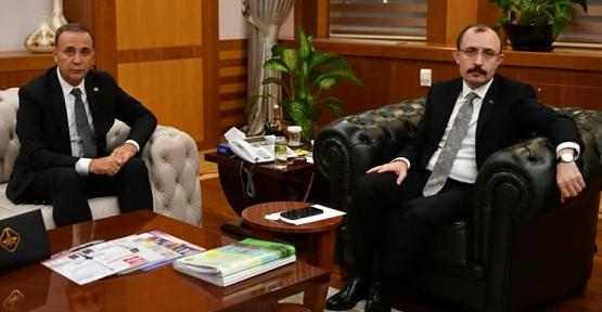 Osman Ören'den Ticaret ve Gümrük Bakanı Dr. Mehmet Muş'a Ziyaret
