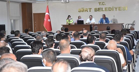 Siirt Belediyesi Ulaşım Personeline Trafik Güvenliği Eğitimi Verildi