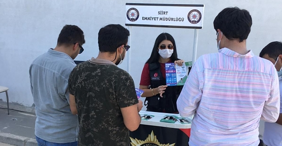 Siirt Üniversitesi Kezer Yerleşkesinde NARKONOKTA Standı Açıldı
