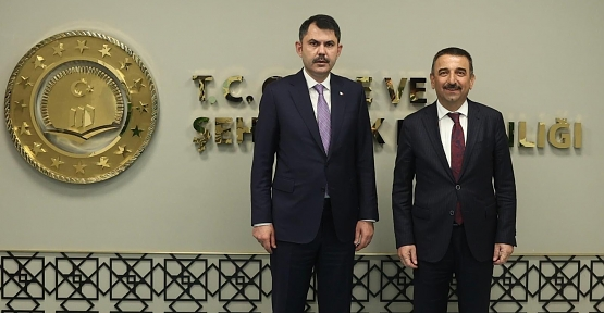 Vali Hacıbektaşoğlu, Çevre ve Şehircilik Bakanı Murat Kurum'u Ziyaret Etti