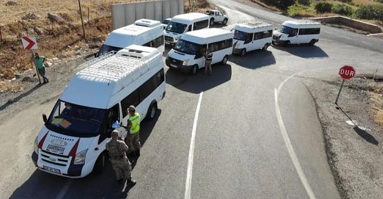 Şirvan'da Okul Servisleri Dron İle Denetlendi
