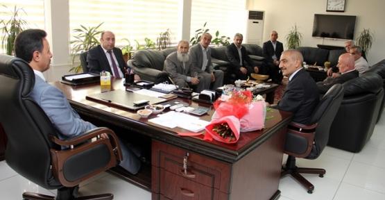 Ahilik Haftasında Esnaf Temsilcileri Rektör Erman'ı Ziyaret Etti