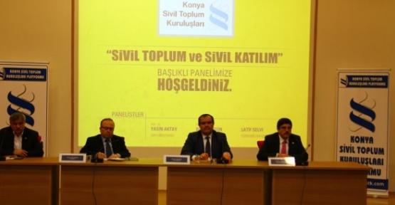 """Aktay, Konya'da """"Sivil Toplum ve Sivil Katılım"""