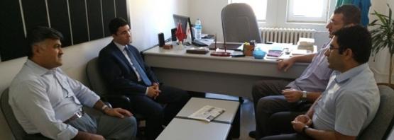 Baykan Kaymakamı Mehmet Kocabey, Hastane Başhekimi Ersöz'ü Ziyaret Etti