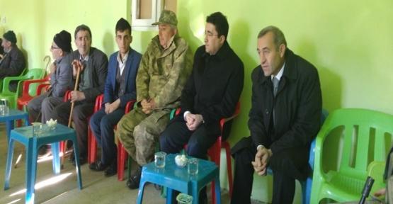 Baykan Kaymakamı Mehmet Kocabey, Kasımlı ve Yarımca Köylerindeki Taziyelere Katıldı