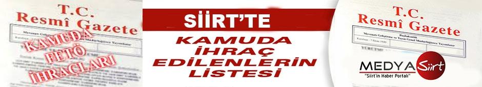 Siirt'ten 164  Kamu Çalışanı İhraç Edildi, Tam Liste Yayınlandı