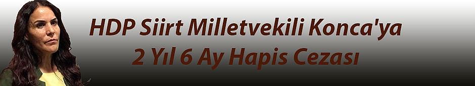 HDP Siirt Milletvekili Konca'ya 2 Yıl 6 Ay Hapis Cezası