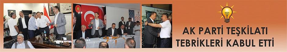 AK Parti Teşkilatı Tebrikleri Kabul Etti