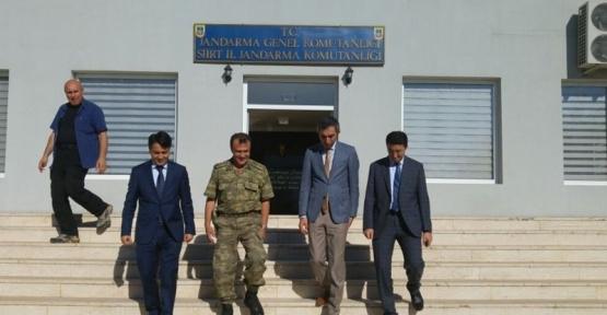 Kaymakamlar Yeni Atanan İl Jandarma Alay Komutanını Ziyaret Ettiler