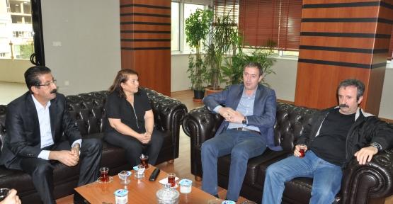 KESK Eş Genel Başkanları Siirt Belediyesini Ziyaret Etti