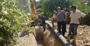 Başkan Özcan, Alt Yapı Çalışmalarını Denetledi