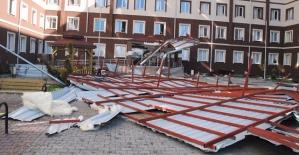 Hassa Hatun Kız Öğrenci Yurdunun Çatısı Çöktü