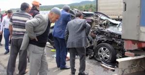 Düğünden Dönen Siirtli Aile Kaza Yaptı: 1 Ölü, 6 Yaralı