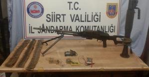Pervari İlçesi Kırsalında PKK'ya Ait  Cephanelik Ele Geçirildi