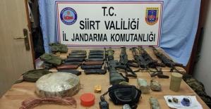 Terör Örgütüne Ait  Silah ve Mühimmat Ele Geçirildi