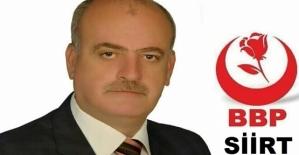 Büyük Birlik Partisi İl Başkanı  Fahrettin Nazlıer Yazılı Açıklama Yaptı