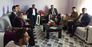 Kaymakam İnan ve Başkan Cellek, Şehit Ailelerini Ziyaret Etti