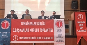 Teknikerler Birliğinin 6. Başkanlar Kurulu Toplantısı Siirt'te Yapıldı