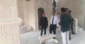 Vali Atik, Şeyh Faraç Camii İnşaatını İnceledi