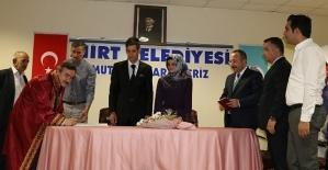Vali Atik, Zeynep ve Fatih Çiftinin Nikah Şahidi Oldu