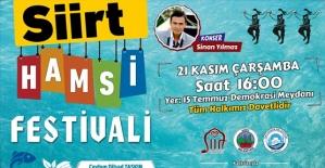 Siirtte Hamsi Festivali 21 Kasımda