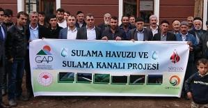 Şirvan'da Sulama Havuzu ve Sulama Kanalı...