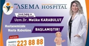 Yılın Hekimi Seçilen Çocuk Doktoru Dr. Melike Karabulut Özel Asema Hospital'da