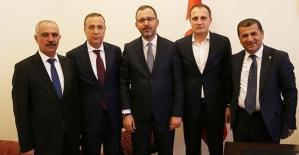 Milletvekili Ören ve Belediye Başkanları...