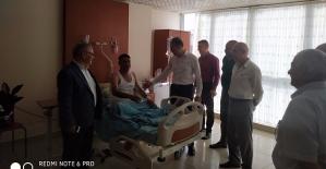 AK Parti İl Başkanı Çalapkulu,Hasta ve Esnaf Ziyaretlerinde Bulundu