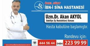 Dâhiliye Dr. Akan Akyol, İdrar Yolu Hastalıkları Hakkında Bilgi Verdi