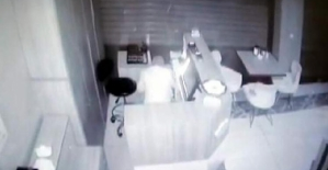 Lokantada Hırsızlık Anı Kameralara...