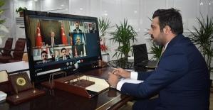 AK Parti İl Başkanı Olgaç, Telekonferans Yoluyla Cumhurbaşkanı Erdoğan'la Görüştü