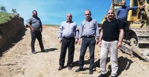 İl Özel İdaresi Zorkaya Köyüne İskele Yolu Yapıyor