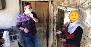 Şirvan Kaymakamı Memiş İnan, Evinde Çökme Yaşayan Aileye Sahip Çıktı