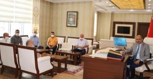 Belediye İş Sendikası, Kurtalan Kaymakamı Aydın'ı Ziyaret Etti