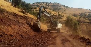 Kasımlı Köyü İle Toptepe Mezrası Arası Yol Bakım ve Onarım Çalışmalarında Sona Gelindi