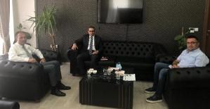 Şirvan Kaymakamı Hasar, Milli Eğitim Müdürü Edip'i Ziyaret Etti