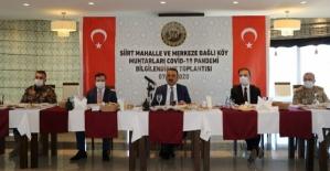 Vali/Belediye Başkan V. Hacıbektaşoğlu, Mahalle ve Köy Muhtarlarıyla Bir Araya Geldi