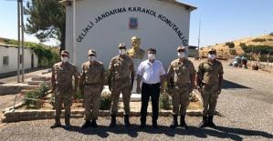 Baykan Kaymakamı Tunç, Çelikli Jandarma Karakol Komutanlığını Ziyaret Etti