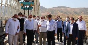 Vali Hacıbektaşoğlu, Zorava Köprüsünde İncelemelerde Bulundu