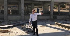 Belediye Başkanı Tayyar Özcan'dan Kapalı Spor Salonu İnşaatında İnceleme