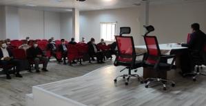 Baykan Kaymakamı Tunç, Esnaf Sanatlar Temsilcileri ve Apartman Yöneticileri İle Toplantı Yaptı