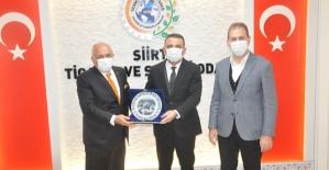 Vali Hacıbektaşoğlu, Siirt TSO'yu Ziyaret Etti