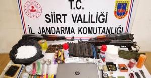 Siirt'te Terör Operasyonunda: Çok Sayıda Mühimmat Bulundu
