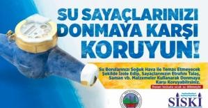 Su Sayaçlarının Donma Tehlikesine Karşı Belediyeden Uyarı