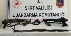 Siirt'te PKK'lı Teröristlere Ait Mühimmat ve Yaşam Malzemesi Ele Geçirildi
