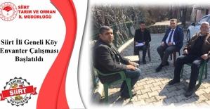 Siirt'te İl Geneli Köy Envanter Çalışması Başlatıldı