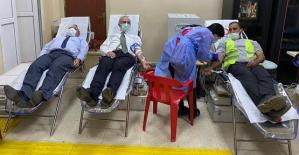 Siirt Belediyesi Temizlik İşleri Personeli Kan Bağışında Bulundu